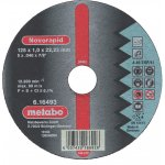 METABO 616492000-METABO NOVORAPID 115 X 1,0 X 22,23 MM, INOX, DOORSLIJPSCHIJF, RECHTE UITVOERING-klium