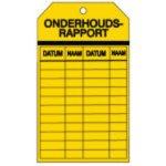 BRADY 230600-Tags voor onderhoud en reparatie - Onderhoudsrapport-klium
