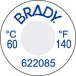 BRADY 622086-Onomkeerbaar temperatuurindicatielabel-klium