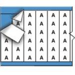 BRADY 026100-Draadmerkerletters op kaart-klium
