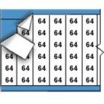 BRADY 010064-Draadmerkernummers op kaart-klium