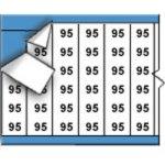 BRADY 010095-Draadmerkernummers op kaart-klium