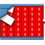 BRADY 011205-Draadmerkernummers op kaart - Wit op rood-klium