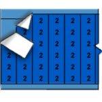 BRADY 011502-Draadmerkernummers op kaart - Zwart op blauw-klium
