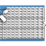 BRADY 054366-Nummers en letters in miniatuurformaat op kaart-klium