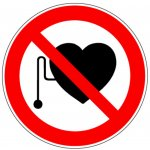 BRADY 227423-Pictogrammen op rol - Verboden voor personen met pacemaker (PIC 218)-klium