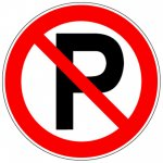 BRADY 223657-Vloerpictogram - Parkeren verboden (PIC 225)-klium
