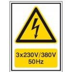 BRADY 251622-Waarschuwingspictogram - Voltagepictogrammen - 3 x 230 V / 380 V - 50 Hz-klium