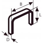 BOSCH 2609200206-Niet met platte draad type 52 12,3 x 1,25 x 10 mm-klium