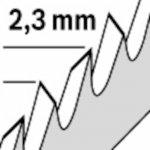 BOSCH 2608667843-Bosch T1044Hp Decoupeerzaagbladen Precision For Pvc 250 Mm 3 St.-klium