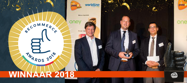 Klium wint een BeCommerce 2018 Award